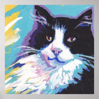 tuxedo cat  Pop Art oPoster Poster