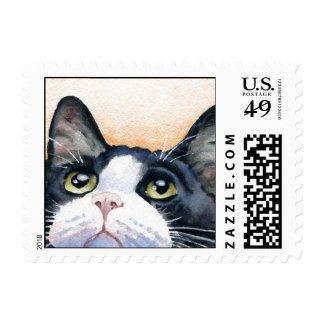 Tuxedo Cat Postage