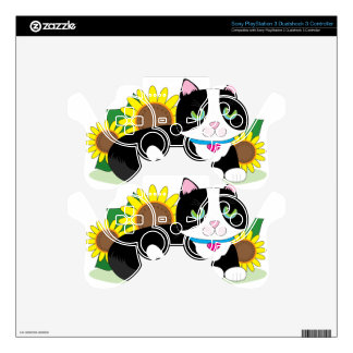 Tuxedo Cat PS3 Controller Decal