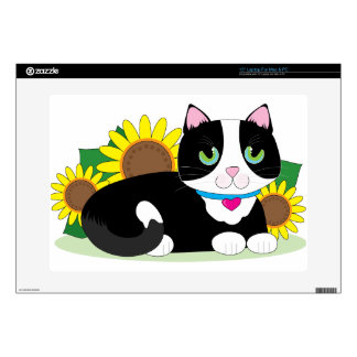 """Tuxedo Cat Skin For 15"""" Laptop"""