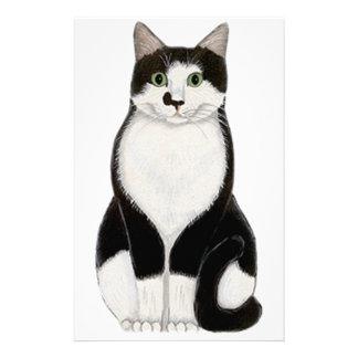 Tuxedo Cat Stationery Design
