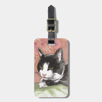 Tuxedo Cat Tag For Luggage