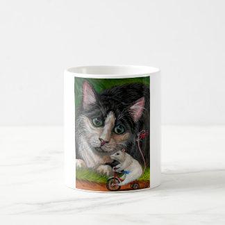 TUXEDO CAT Tricycle Mouse Mug
