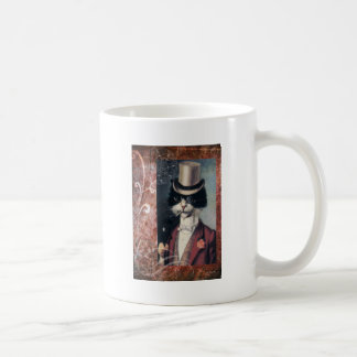 Tuxedo Cat Victorian Gentleman Top Hat Steampunk Coffee Mug