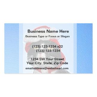 tuxedo cat wearing santa hat sparkle business card template