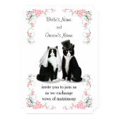 Tuxedo Cat Wedding 5x7 Paper Invitation Card