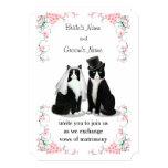 Tuxedo Cat Wedding Card