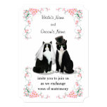 Sweet Tuxedo Cat Wedding Invitation