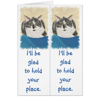 Tuxedo Cats Bookmark Reader Gift Cards