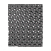 Tuxedo Cats Pattern Fleece Blanket