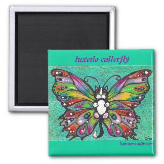 Tuxedo Catterfly Cat/Butterfly Whimsical Fantasy! Magnet
