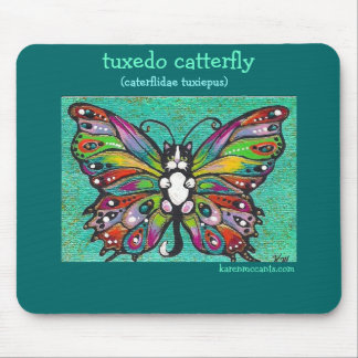 Tuxedo Catterfly Cat/Butterfly Whimsical Fantasy! Mouse Pad