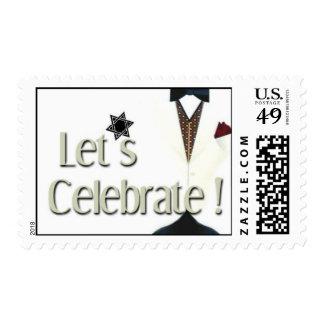 Tuxedo Celebrations Postage Stamps