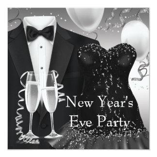 Tuxedo Champagne Confetti Black Tie Party Card