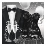 Tuxedo Champagne Confetti New Years Eve Party Announcements