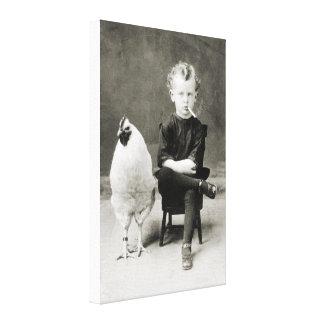 Tuxedo Child - black/white Canvas Print