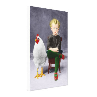 Tuxedo Child - Recolored Canvas Print