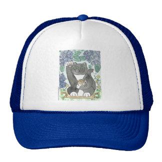 Tuxedo Good Luck Amidst the Hydrangeas Trucker Hat