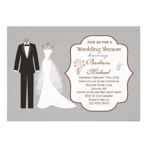 Couples Wedding Shower Invitations for great invitation template