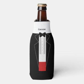 Tuxedo Groom Custom Bottle Cooler