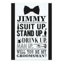 Tuxedo Groomsman Card