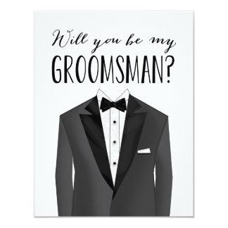 Tuxedo Groomsman | Groomsman Card