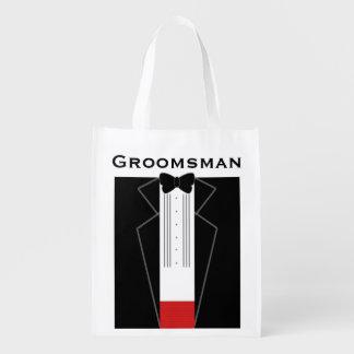 Tuxedo Groomsman Reusable Bag
