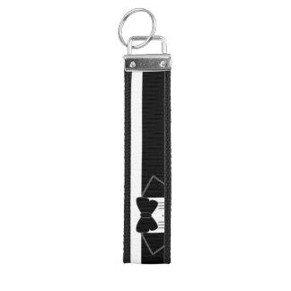 Tuxedo Groomsman Wedding Wrist Keychain