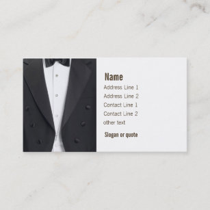 Tuxedo Jacket And Bow Tie Business Card
