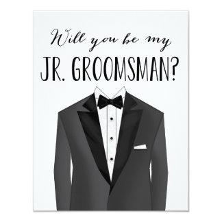 Tuxedo Junior Groomsman | Groomsman 4.25x5.5 Paper Invitation Card