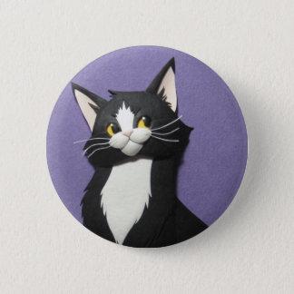 Tuxedo Kitten Button