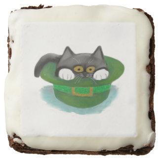 Tuxedo Kitten Fits inside a Leprechaun's Hat Brownie
