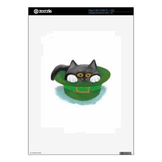 Tuxedo Kitten Fits inside a Leprechaun's Hat Decal For iPad 2