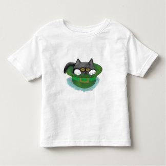 Tuxedo Kitten Fits inside a Leprechaun's Hat T-shirts