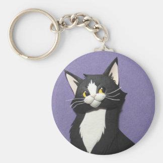 Tuxedo Kitten Keychain