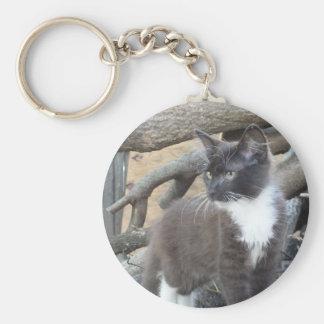 Tuxedo Kitten Key Chain