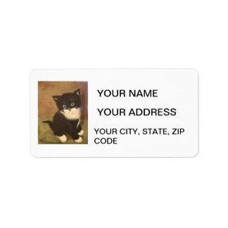 Tuxedo Kitten Custom Address Label