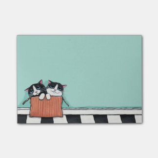 Tuxedo Kittens in a Box Post-it® Notes