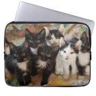 Tuxedo Kittens Laptop Sleeve
