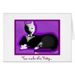 Tuxedo Kitty Card