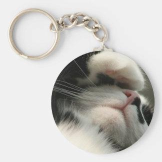 Tuxedo Kitty Has A Sick Headache Keychain