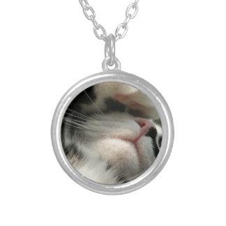 Tuxedo Kitty Has A Sick Headache Custom Necklace