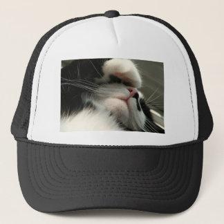 Tuxedo Kitty Has A Sick Headache Trucker Hat