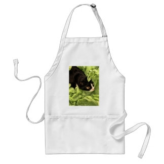 Tuxedo Kitty Hiding in Tissue Paper Adult Apron
