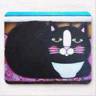 Tuxedo Kitty Mouse Pad