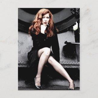 Tuxedo lady postcards