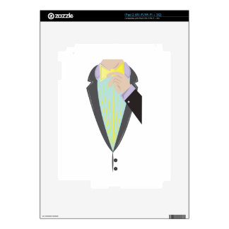 Tuxedo Man Decals For iPad 2