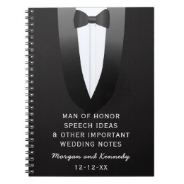 Man of honor gifts on zazzle tuxedo man of honor wedding speech ideas journal junglespirit Images