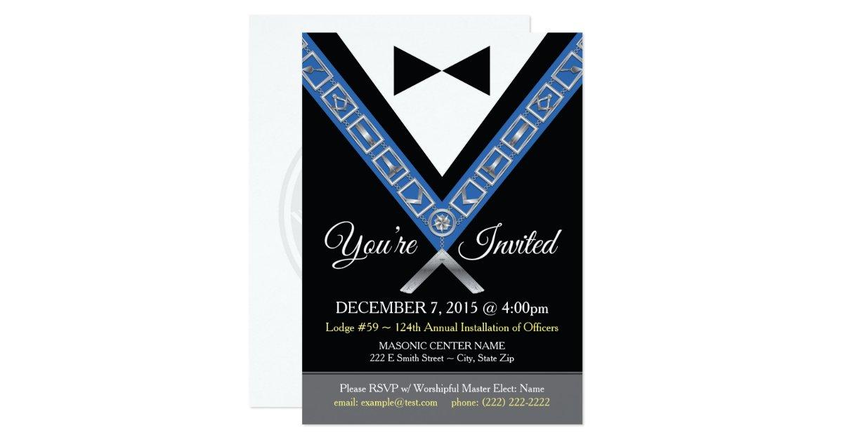 Tuxedo Masonic Invitations | Freemason Jewels | Zazzle com