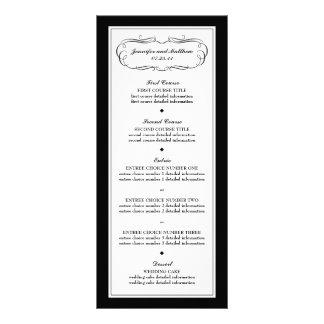 Tuxedo Menu in Black and White Custom Rack Card